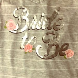 Bride To Be Pajama Set, new without tags. Size S
